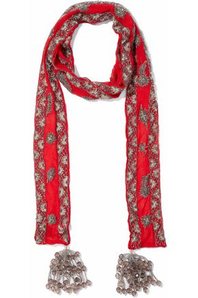 WOMAN SCARVES RED