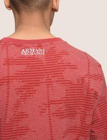 ARMANI EXCHANGE STRIPED PALMS SWEATSHIRT TOP Fleece Top Man b