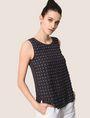 ARMANI EXCHANGE PAILLETTE DOT TOP S/L Knit Top Woman a