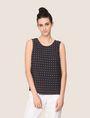 ARMANI EXCHANGE PAILLETTE DOT TOP S/L Knit Top Woman f