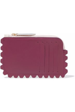 DIANE VON FURSTENBERG Two-tone faux leather wallet