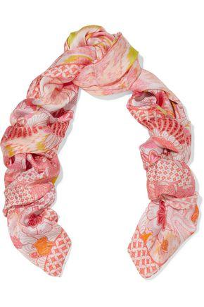 ROBERTO CAVALLI Printed silk scarf