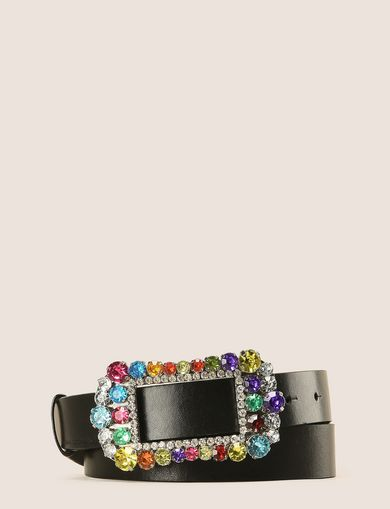 RHINESTONE BUCKLE BELT