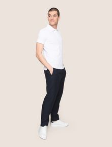 ARMANI EXCHANGE LINEN BLEND PLEAT-FRONT PANT Trouser Man d