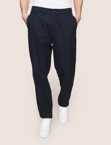 ARMANI EXCHANGE LINEN BLEND PLEAT-FRONT PANT Trouser Man f