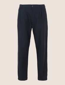 ARMANI EXCHANGE LINEN BLEND PLEAT-FRONT PANT Trouser Man r