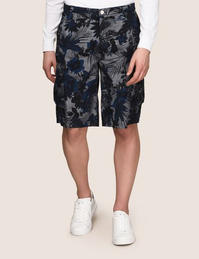 TROPICAL FLORAL CARGO SHORT
