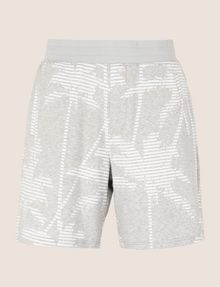ARMANI EXCHANGE STRIPED PALMS SWEAT SHORT Fleece Short Man r