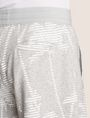 ARMANI EXCHANGE STRIPED PALMS SWEAT SHORT Fleece Short Man b