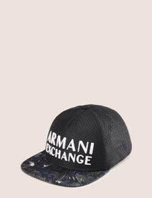 ARMANI EXCHANGE ボタニカル柄 パネルキャップ ハット メンズ f