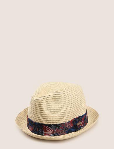 TROPICAL FLORAL GROSGRAIN PANAMA HAT