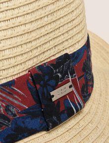 ARMANI EXCHANGE TROPICAL FLORAL GROSGRAIN PANAMA HAT Hat Man d