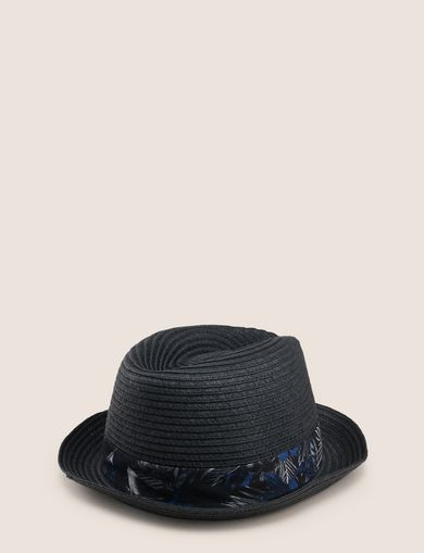 TROPICAL FLORAL GROSGRAIN PANAMA HAT