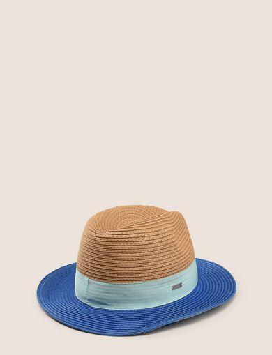 COLORBLOCK WOVEN PANAMA HAT