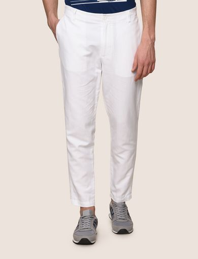 TAILORED LINEN BLEND PANTS