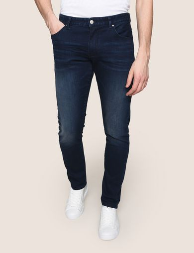 SKINNY-FIT DARK INDIGO WASHED JEAN