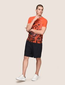 ARMANI EXCHANGE ELASTIC WAIST LINEN BLEND SHORT Shorts Man d