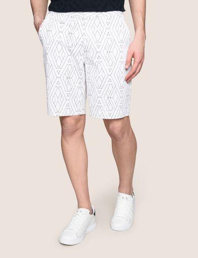 Shorts Longueur Du Genou Floral Imprimé - Armani Emporio Blanc iPupKsT