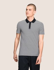 ARMANI EXCHANGE CONTRAST COLLAR STRIPED POLO SHORT SLEEVES POLO Man f