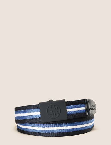 COATED PLAQUE BUCKLE CANVAS BELT