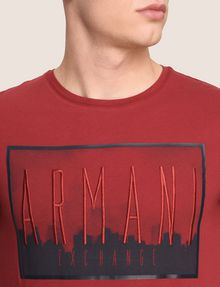 ARMANI EXCHANGE BLURRED SKYLINE LOGO TEE Logo T-shirt Man b