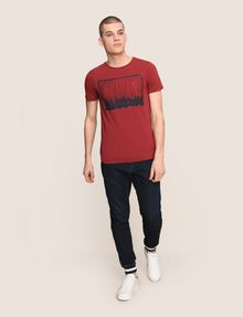 ARMANI EXCHANGE BLURRED SKYLINE LOGO TEE Logo T-shirt Man d