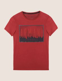 ARMANI EXCHANGE BLURRED SKYLINE LOGO TEE Logo T-shirt Man r