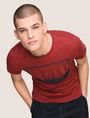 ARMANI EXCHANGE BLURRED SKYLINE LOGO TEE Logo T-shirt Man a