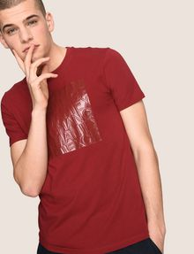 ARMANI EXCHANGE TONAL DEBOSSED OUTLINE TEE Logo T-shirt Man a