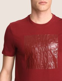 ARMANI EXCHANGE TONAL DEBOSSED OUTLINE TEE Logo T-shirt Man b