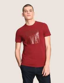 ARMANI EXCHANGE TONAL DEBOSSED OUTLINE TEE Logo T-shirt Man f