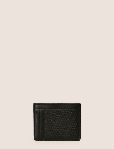 EMBOSSED FAUX-LEATHER CARDCASE