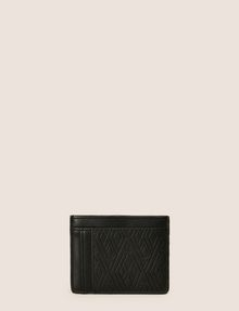 ARMANI EXCHANGE EMBOSSED FAUX-LEATHER CARDCASE Small leather good Man r