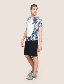 ARMANI EXCHANGE WHITEOUT TROPICAL FLORAL TEE Logo T-shirt Man d