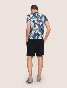 ARMANI EXCHANGE WHITEOUT TROPICAL FLORAL TEE Logo T-shirt Man e