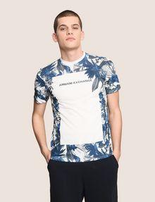 ARMANI EXCHANGE WHITEOUT TROPICAL FLORAL TEE Logo T-shirt Man f