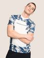 ARMANI EXCHANGE WHITEOUT TROPICAL FLORAL TEE Logo T-shirt Man a