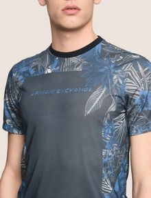 ARMANI EXCHANGE WHITEOUT TROPICAL FLORAL TEE Logo T-shirt Man b