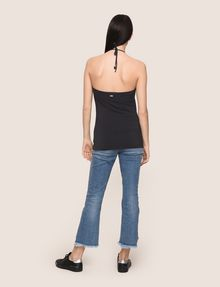 ARMANI EXCHANGE GATHERED-FRONT HALTER TOP S/S Knit Top [*** pickupInStoreShipping_info ***] e