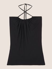 ARMANI EXCHANGE GATHERED-FRONT HALTER TOP S/S Knit Top Woman r