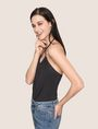 ARMANI EXCHANGE GATHERED-FRONT HALTER TOP S/S Knit Top Woman a