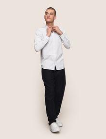 ARMANI EXCHANGE VARIEGATED STRIPE REGULAR-FIT SHIRT Long sleeve shirt Man d