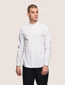 ARMANI EXCHANGE VARIEGATED STRIPE REGULAR-FIT SHIRT Long sleeve shirt Man f