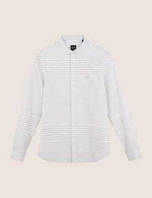 ARMANI EXCHANGE VARIEGATED STRIPE REGULAR-FIT SHIRT Long sleeve shirt Man r