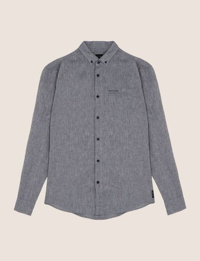 LINEN BLEND CHAMBRAY REGULAR-FIT SHIRT