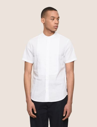 SHORT SLEEVE TAB COLLAR BIB SHIRT