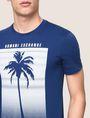 ARMANI EXCHANGE OMBRE PALM PRINT TEE Non-Logo Tee Man b