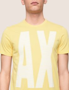 ARMANI EXCHANGE OVERSIZE A|X STRIPE TEE Logo T-shirt Man b