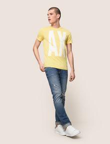 ARMANI EXCHANGE OVERSIZE A|X STRIPE TEE Logo T-shirt Man d