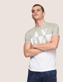 ARMANI EXCHANGE ツートーンカラーロゴTシャツ ロゴTシャツ メンズ a